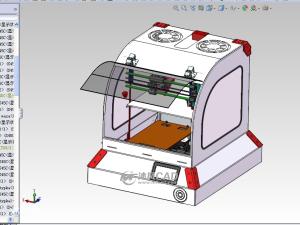 3D打印机总装图和零件图