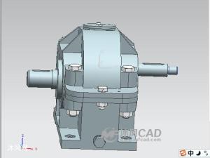 UG一级圆柱齿轮减速器模型