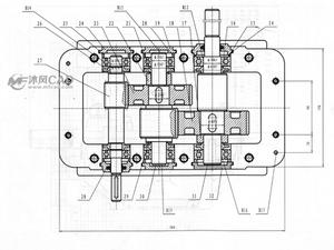 二级减速器CAD图纸(含40余个零部件图)