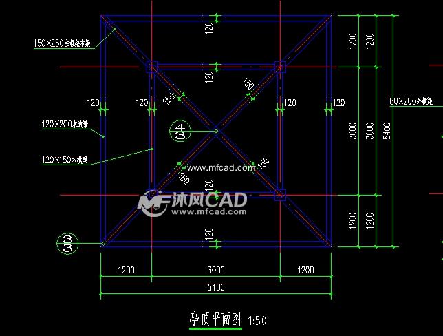 木亭建筑施工图图片