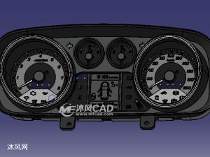 catia轿车组合仪表盘