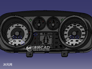 catia汽车组合仪表盘