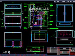 中低压盘通用测试操作台全套CAD图纸(含零件及展开图)