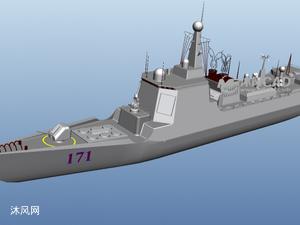 中華神盾 052D型導彈驅逐艦(原創作品)