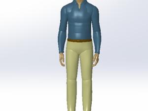 工人 模型