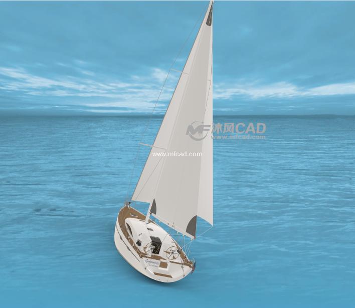 小小帆船模型图片