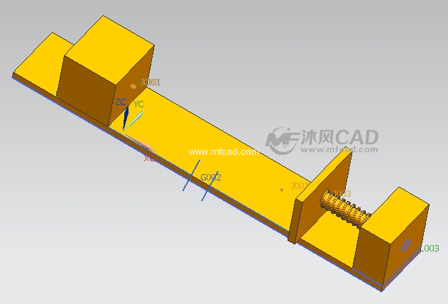 UG8.03D接触运动仿真(原创)-UG常用图纸机机械牵牛花折的图片