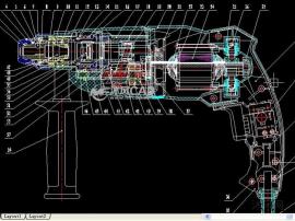 轻型22电锤总装图