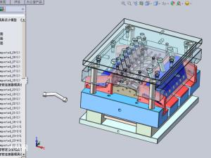 彎管連接器模具設計模型
