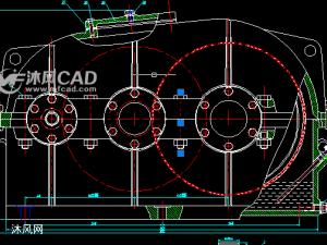 展开式二级圆柱齿轮减速器装配图