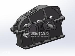 一级直齿圆柱齿轮减速器中原工学院机械设计课程设计减速器设计各零件图关键零件工程图