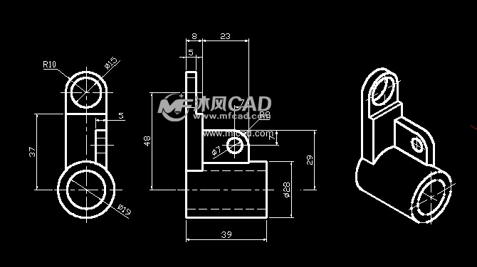 机械设计300个机械零件cad图纸 毕业设计常用