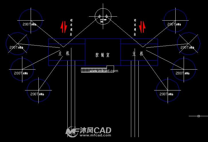 某市混凝土搅拌站(图纸)CAD详细动态-cad车cad块v图纸双拼中图片