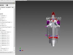 微涡喷发动机设计模型