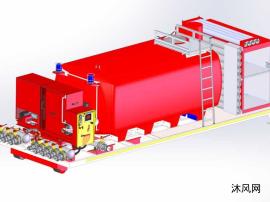 消防车储水箱PROE设计