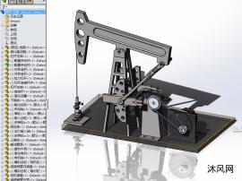 抽油機3D模型可用來仿真中文