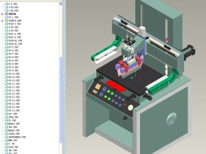 平面丝印机proe图纸模型