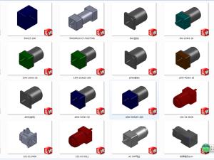 步进电机调速电机3D模型零件库