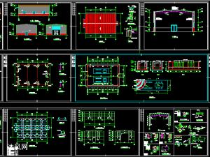 某工厂钢构发电机房建筑施工图