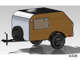 拖掛式房車設計模型