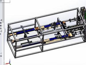 (原创)串焊机SolidWorks建模