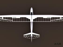 滑翔飞机主体结构模型