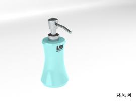 蓝色洗发水瓶子