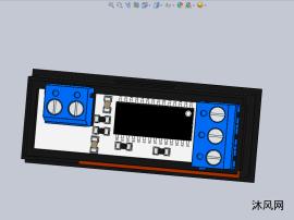 电压电流仪表显示面板设计模型