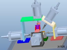 化油器冲钢珠和空气量孔专机