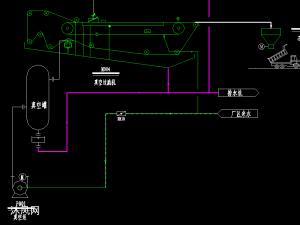 石灰石石膏法脱硫工艺流程图cad