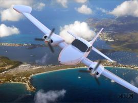 空中飞机的滑翔机绘制模型