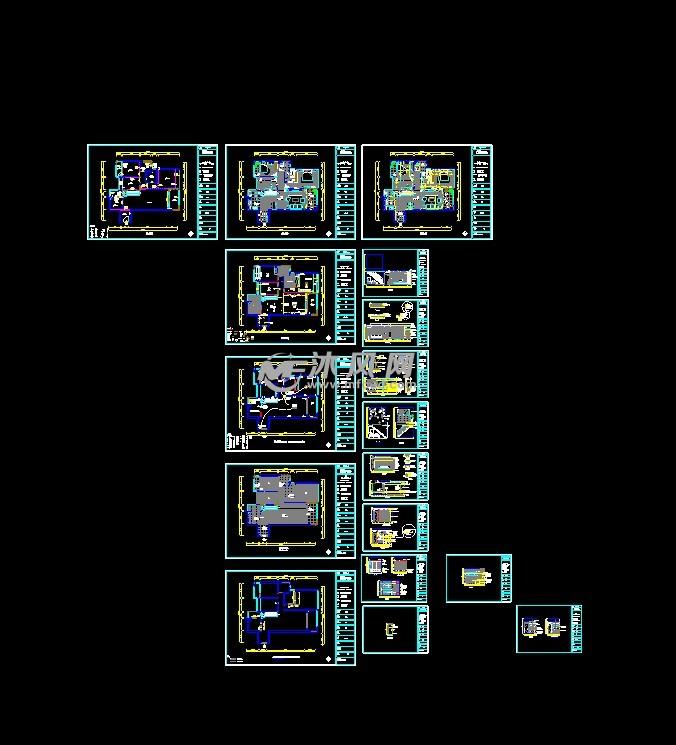 某全套家装CAD室内装修施工图