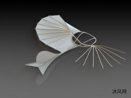 滑翔机玩具设计SW模型