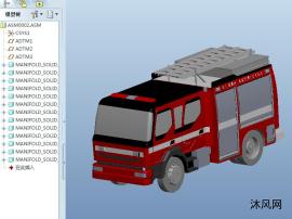 小型救援消防车模型