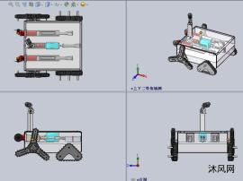 救援(探索)机器人设计模型