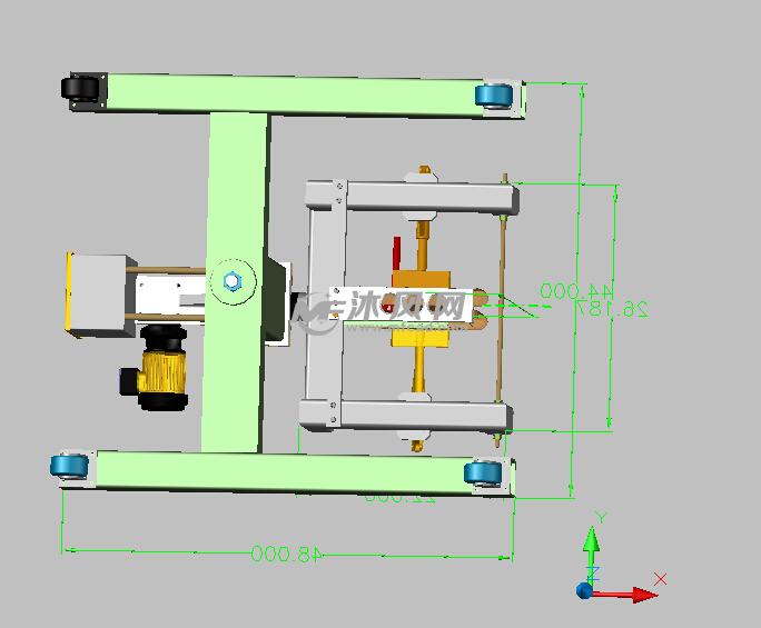 汽车车身焊接夹具设计俯视图-汽车车身焊接夹具设计高清图片