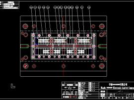 一款連接器接插件CAD模具圖,精密可互換完整的圖紙!(原創)