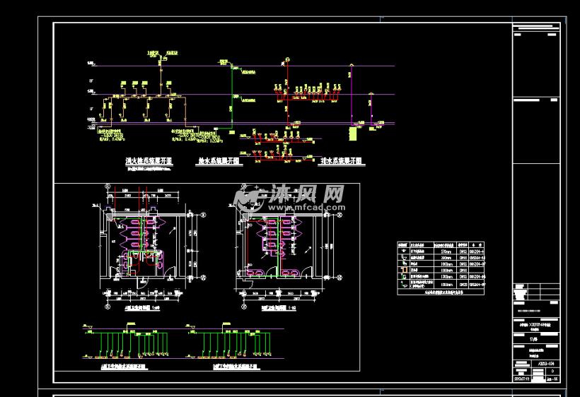 二层沿街商铺全专业设计施工图 含建筑 结构 水电全套施工图