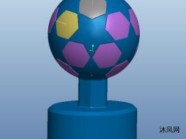 欧洲杯足球杯模型