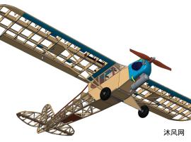 螺旋桨滑翔飞机骨架模型