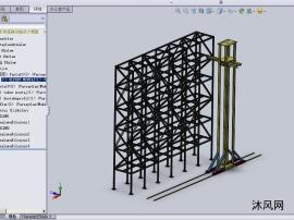 脚手架搭建设施设计模型