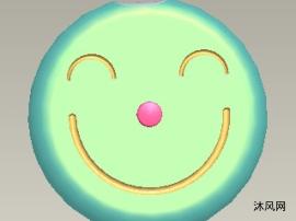 可爱笑脸扫地机器人建模