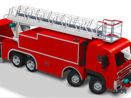 带云梯的消防车