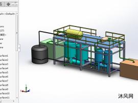 循環凈水設備模型