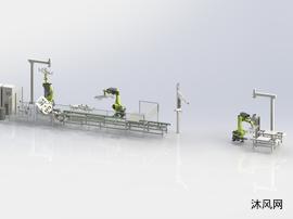 汽车玻璃流水线自动涂胶装配系统