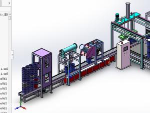 全自动灌装机模型