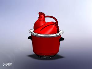 雄鸡慢炖锅模型