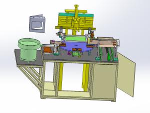 自动丝印机模型