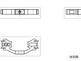 弹弓模型分体三件组合成