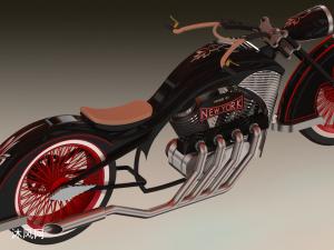 摩托車、PJD摩托車3D模型